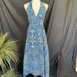 Tommy Bahama 100% Cotton Maxi Halter Dress S